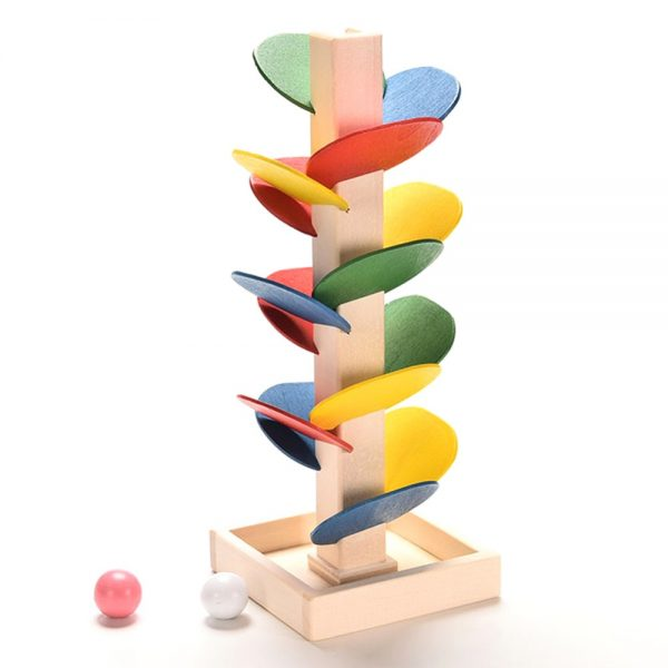 Colorful Tree Marble Ball Run Track Building Blocks Kids Wood Game Toys Children Learning Educational DIY Wooden Toys Gifts 1