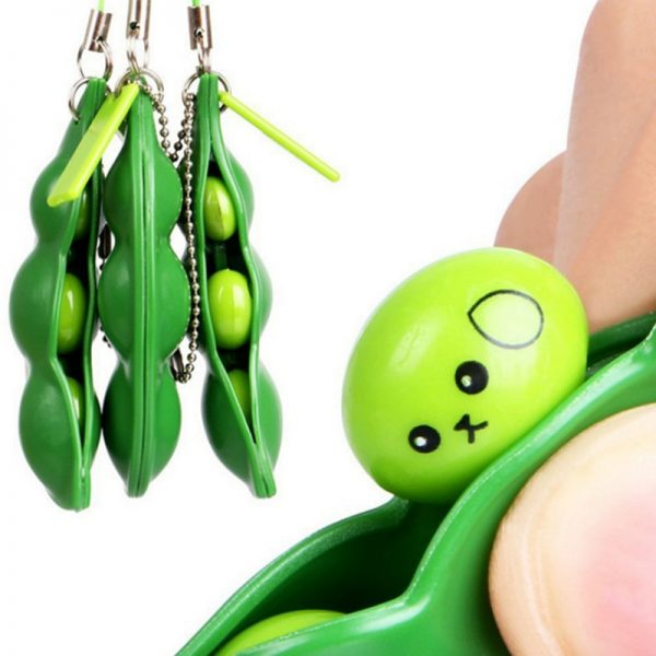 Fidget Toys Decompression Edamame Toys Squishy Squeeze Peas Beans Keychain Cute Stress Adult Toy Rubber Boys Xmas Gift 2